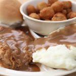 Country Fried Steak, Okra and Mashed Potatoes