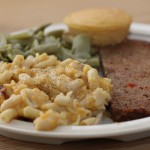 Meatloaf, Green beans, and Mac & Cheese